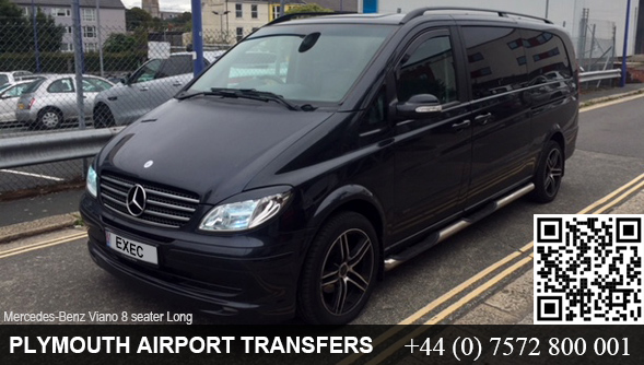 Plymouth to Heathrow Airport Mercedes Benz Viano 8 seater hire in Plymouth, Devon, UK