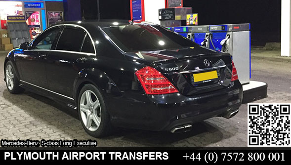 Executive Mercedes S-Class hire in Plymouth, Devon, UK