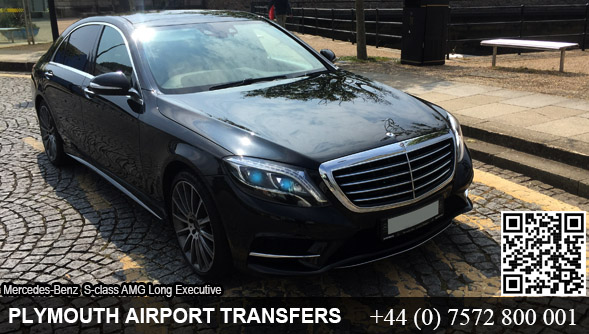 Plymouth to Heathrow Airport Executive Mercedes S-Class hire in Plymouth, Devon, UK