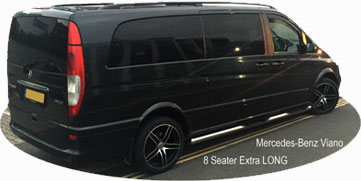 Mercedes Viano 8 Seater Taxi People carrier Plymouth Airport Transfers